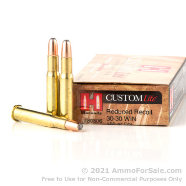 20 Rounds of 150gr RNSP 30-30 Win Ammo by Hornady