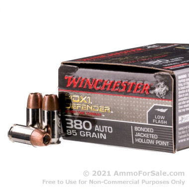 20 Rounds of 95gr JHP .380 ACP Ammo by Winchester