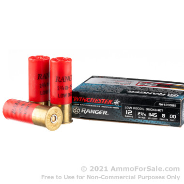 5 Rounds of  00 Buck 12ga Ammo by Winchester Ranger