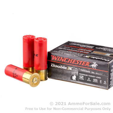 """10 Rounds of 2 ounce #5 Magnum Turkey12ga 3"""" Ammo by Winchester Supreme Double-X"""