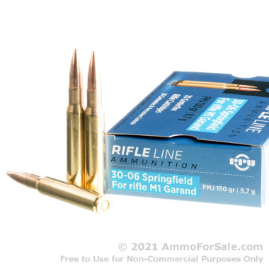 20 Rounds of 150gr FMJ 30-06 Springfield Ammo by Prvi Partizan