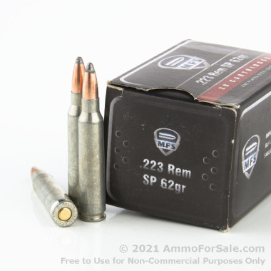 20 Rounds of 62gr Soft Point .223 Ammo by MFS