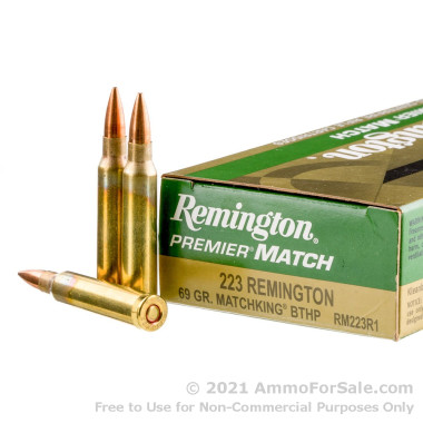 200 Rounds of 69gr Hollow Point Boat Tail .223 Ammo by Remington