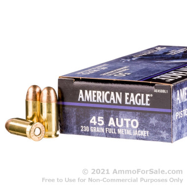 45 ACP - 230 gr FMJ - American Eagle C.O.P.S. - 50 Rounds