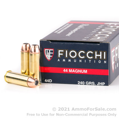 1000 Rounds of 240gr JHP .44 Mag Ammo by Fiocchi