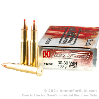 200 Rounds of 160gr FTX 30-30 Win Ammo by Hornady