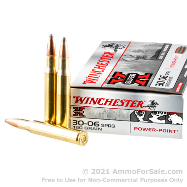 200 Rounds of 180gr PP 30-06 Springfield Ammo by Winchester