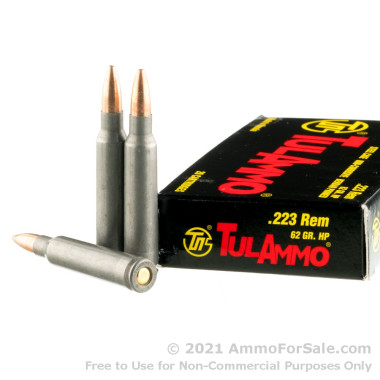 500 Rounds of 62gr HP .223 Ammo by Tula