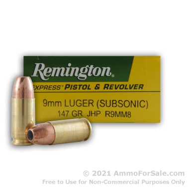 500  Rounds of 147gr JHP 9mm Ammo by Remington