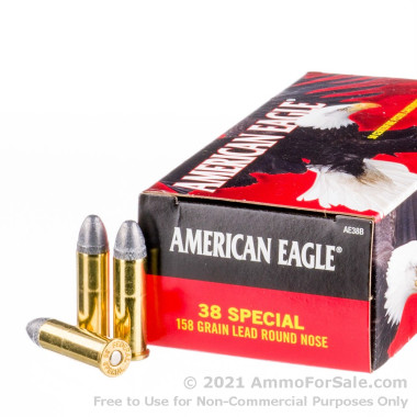 50 Rounds of 158gr LRN .38 Spl Ammo by Federal