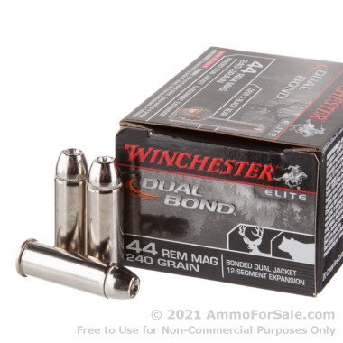 20 Rounds of 240gr HP .44 Mag Ammo by Winchester Dual Bond