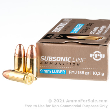 1000 Rounds of 158gr FMJ 9mm Ammo by Prvi Partizan