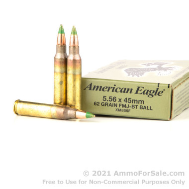 20 Rounds of 62gr FMJ 5.56x45 Ammo by Federal