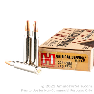 200 Rounds of 73gr FTX 223 Rem Ammo by Hornady