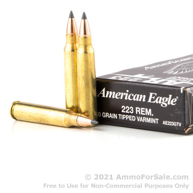 20 Rounds of 50gr Polymer Tipped .223 Ammo by Federal