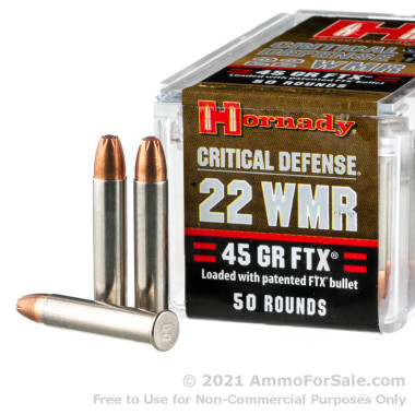 500 Rounds of 45gr FTX .22 WMR Ammo by Hornady