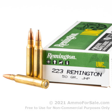 200 Rounds of 50gr JHP .223 Ammo by Remington