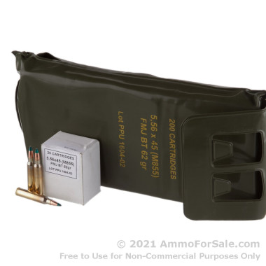 1000 Rounds of 62gr FMJBT M855 5.56x45 Ammo in Battle Packs by Prvi Partizan