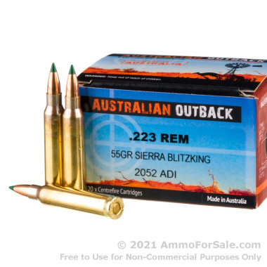 20 Rounds of 55gr Polymer Tipped .223 Ammo by Australian Defense Industries