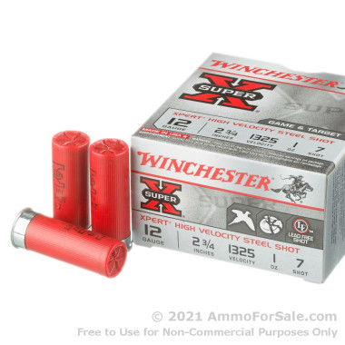 """100 Rounds of 2-3/4"""" 1 ounce #7 Shot 12ga Ammo by Winchester Super-X Xpert"""