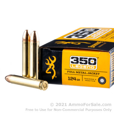 20 Rounds of 124gr FMJ .350 Legend Ammo by Browning