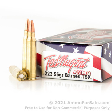 20 Rounds of 55gr TSX .223 Ammo by Ted Nugent Ammo