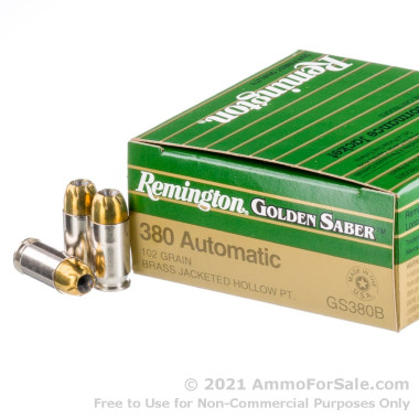 500  Rounds of 102gr JHP .380 ACP Ammo by Remington
