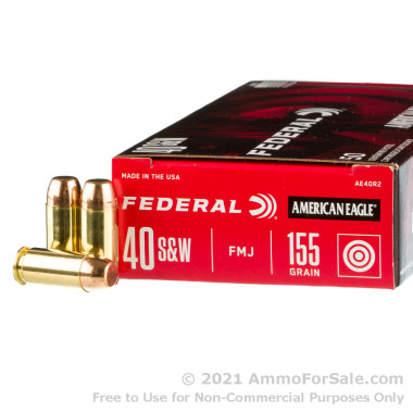 1000 Rounds of 155gr FMJ .40 S&W Ammo by Federal