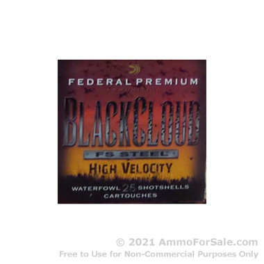 250 Rounds of 1 1/8 ounce #4 shot 12ga Ammo by Federal Black Cloud FS Steel High Velocity