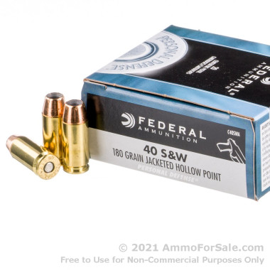 20 Rounds of 180gr HP .40 S&W Ammo by Federal