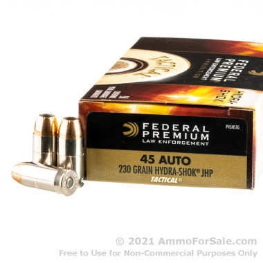 50 Rounds of 230gr JHP .45 ACP Ammo by Federal