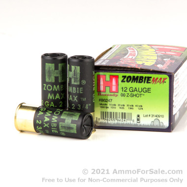 100 Rounds of  00 Buck 12ga Ammo by Hornady
