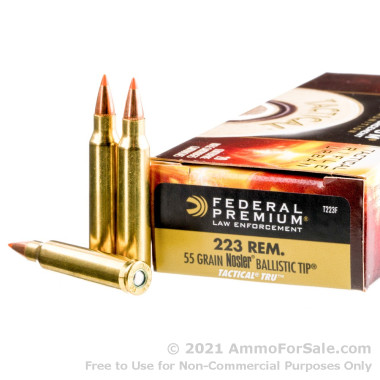 500  Rounds of 55gr Nosler Ballistic Tip .223 Ammo by Federal