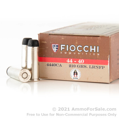 50 Rounds of 210gr LRN .44-40 Winchester Ammo by Fiocchi