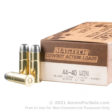 50 Rounds of 225gr LFN .44-40 Winchester Ammo by Magtech