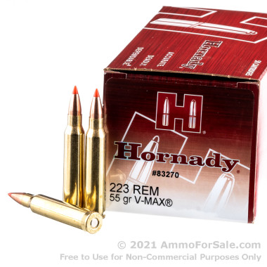 50 Rounds of 55gr V-MAX .223 Ammo by Hornady