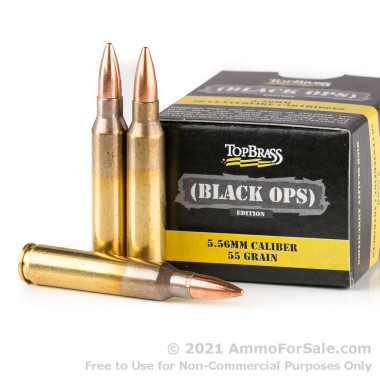 1000 Rounds of 55gr FMJ 5.56x45 Ammo by Igman Ammunition