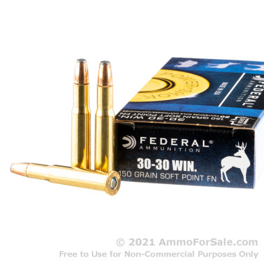 20 Rounds of 150gr JSP 30-30 Win Ammo by Federal