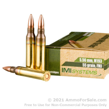 1200 Rounds of 55gr FMJ 5.56x45 Ammo by Israeli Military Industries