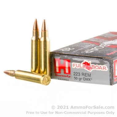 20 Rounds of 50gr GMX .223 Ammo by Hornady