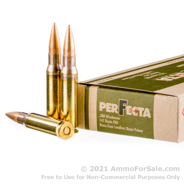 400 Rounds of 147gr FMJ .308 Win Ammo by Fiocchi Perfecta