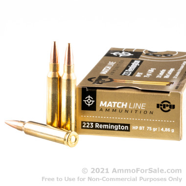 1000 Rounds of 75gr HPBT .223 Ammo by Prvi Partizan