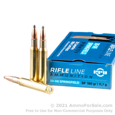 20 Rounds of 180gr SP 30-06 Springfield Ammo by Prvi Partizan