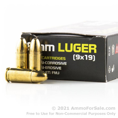 1000 Rounds of 115gr FMJ 9mm Ammo by Sumbro