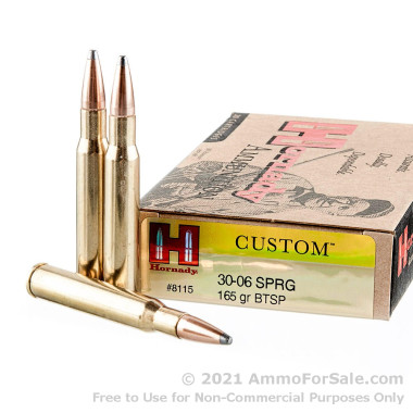 20 Rounds of 165gr SPBT 30-06 Springfield Ammo by Hornady