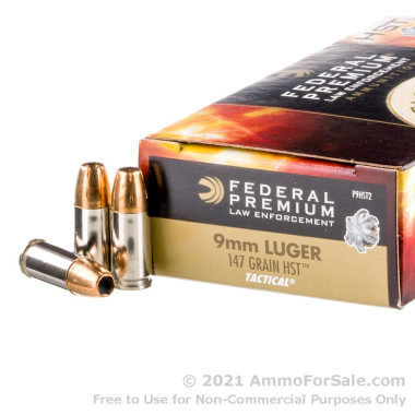 1000 Rounds of 147gr HST JHP 9mm Ammo by Federal