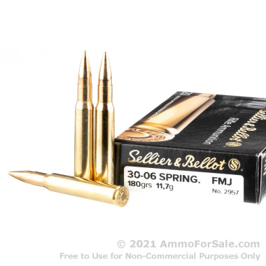 400 Rounds of 180gr FMJ 30-06 Springfield Ammo by Sellier & Bellot