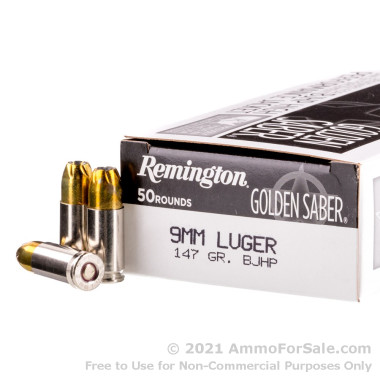 500 Rounds of 147gr BJHP 9mm Ammo by Remington