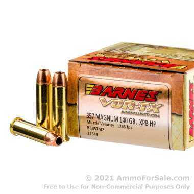 20 Rounds of 140gr XPB HP .357 Mag Ammo by Barnes