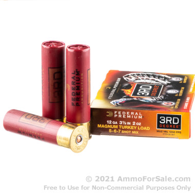 5 Rounds of 2 ounce #5 shot 12ga Ammo by Federal